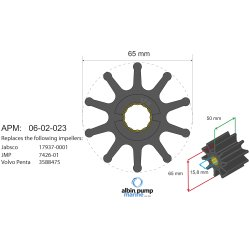 Impeller Albin pump 06-02-023